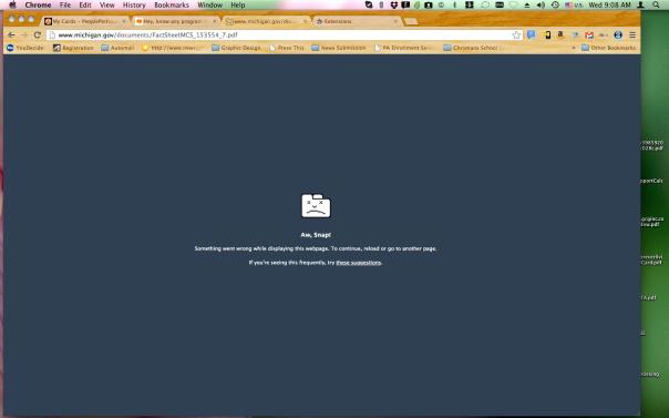 Google Chrome PDF error